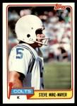1981 Topps #277  Steve Mike-Mayer  Front Thumbnail