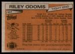 1981 Topps #307  Riley Odoms  Back Thumbnail