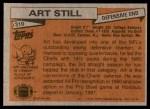 1981 Topps #310  Art Still  Back Thumbnail
