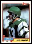 1981 Topps #318  Louie Giammona  Front Thumbnail