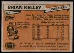 1981 Topps #374  Brian Kelley  Back Thumbnail