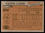1981 Topps #384  Kevin Long  Back Thumbnail