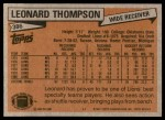 1981 Topps #386  Leonard Thompson  Back Thumbnail