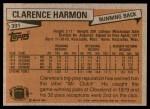 1981 Topps #391  Clarence Harmon  Back Thumbnail