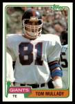1981 Topps #417  Tom Mullady  Front Thumbnail