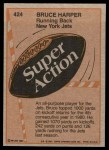 1981 Topps #424  Bruce Harper  Back Thumbnail