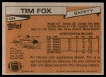 1981 Topps #434  Tim Fox  Back Thumbnail