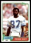 1981 Topps #463  Freddie Scott  Front Thumbnail
