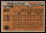 1981 Topps #464  Rob Lytle  Back Thumbnail