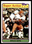1981 Topps #486  Brian Sipe  Front Thumbnail