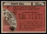 1980 Topps #53  Tony Hill  Back Thumbnail