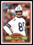 1980 Topps #53  Tony Hill  Front Thumbnail