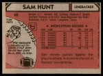 1980 Topps #62  Sam Hunt  Back Thumbnail