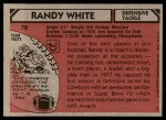 1980 Topps #70  Randy White  Back Thumbnail