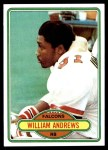 1980 Topps #73  William Andrews  Front Thumbnail