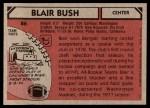 1980 Topps #86  Blair Bush  Back Thumbnail
