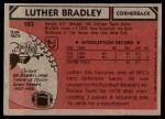 1980 Topps #103  Luther Bradley  Back Thumbnail