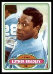 1980 Topps #103  Luther Bradley  Front Thumbnail