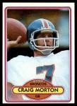 1980 Topps #105  Craig Morton  Front Thumbnail