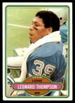 1980 Topps #172  Leonard Thompson  Front Thumbnail
