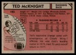 1980 Topps #193  Ted McKnight  Back Thumbnail