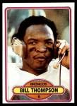 1980 Topps #212  Bill Thompson  Front Thumbnail