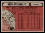 1980 Topps #266  Jan Stenerud  Back Thumbnail