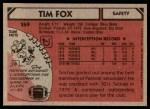 1980 Topps #269  Tim Fox  Back Thumbnail