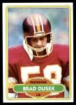 1980 Topps #276  Brad Dusek  Front Thumbnail