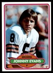 1980 Topps #279  Johnny Evans  Front Thumbnail