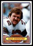 1980 Topps #316  Dan Dierdorf  Front Thumbnail
