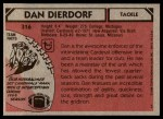 1980 Topps #316  Dan Dierdorf  Back Thumbnail