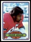 1980 Topps #352  Julius Adams  Front Thumbnail