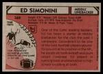 1980 Topps #369  Ed Simonini  Back Thumbnail
