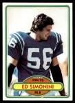 1980 Topps #369  Ed Simonini  Front Thumbnail