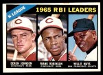 1966 Topps #219   -  Willie Mays / Frank Robinson / Deron Johnson NL RBI Leaders Front Thumbnail