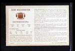 1970 Kellogg's #7  Gene Washington  Back Thumbnail
