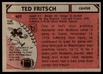 1980 Topps #407  Ted Fritsch Jr.  Back Thumbnail