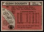 1980 Topps #424  Glenn Doughty  Back Thumbnail