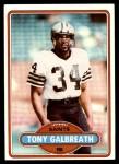 1980 Topps #426  Tony Galbreath  Front Thumbnail