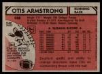 1980 Topps #448  Otis Armstrong  Back Thumbnail