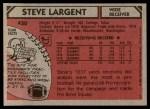1980 Topps #450  Steve Largent  Back Thumbnail