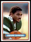 1980 Topps #484  Jerome Barkum  Front Thumbnail