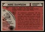 1980 Topps #487  Mike Dawson  Back Thumbnail