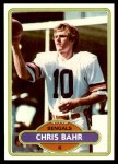 1980 Topps #501  Chris Bahr  Front Thumbnail