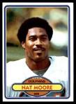 1980 Topps #515  Nat Moore  Front Thumbnail