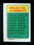 1970 Topps Booklets #16  Denis Menke  Back Thumbnail
