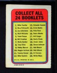 1970 Topps Booklets #24  Willie Mays  Back Thumbnail