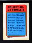 1970 Topps Booklets #23  Al Ferrara  Back Thumbnail