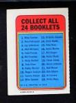 1970 Topps Booklets #6  Bill Freehan  Back Thumbnail